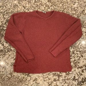 Sweaters - Dark red knit sweater